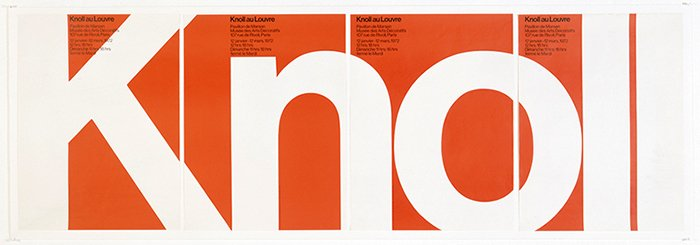 Knoll at Le Louve by Massimo Vignelli