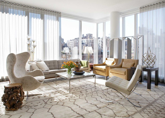 From Interior Designer Neal Beckstedt on a recent New York City residence The decoration of the apartment was focused on creating a calm classic sense of ... : barcelona chair interior design - Cheerinfomania.Com