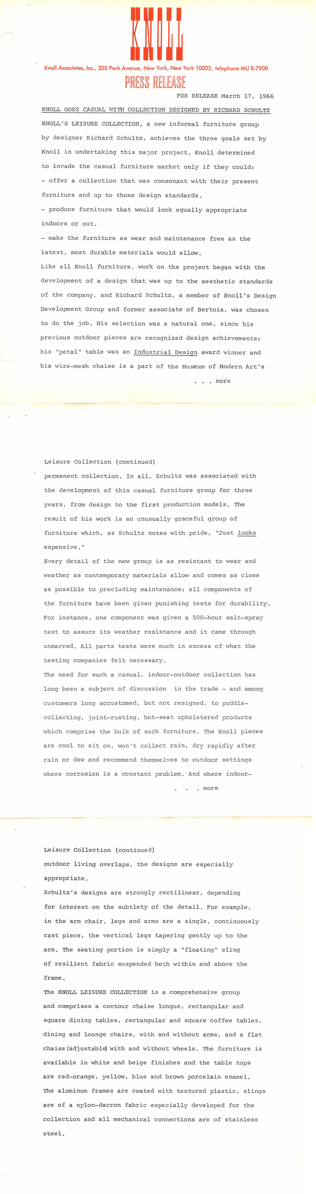 Schultz Archival Press Release