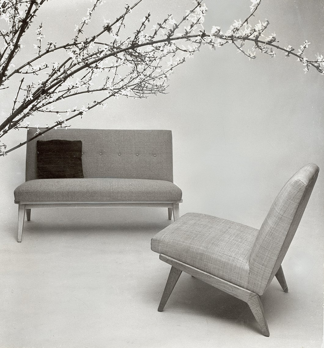 Examples of Jens Risom's early designs for Knoll | PC: Knoll Archive | In Conversation with Helen Risom | Knoll Inspiration