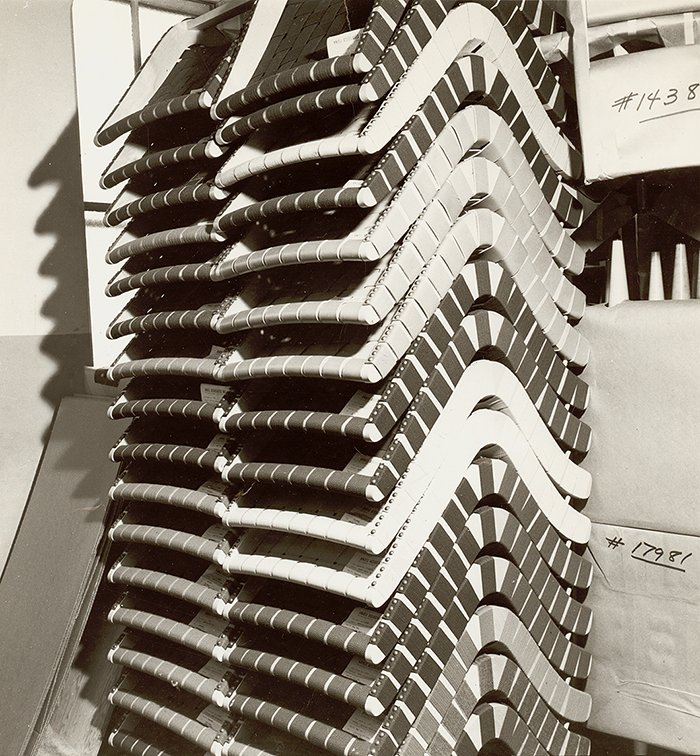 Stacks of Jens Risom&rsquos 650 Line Lounge Chairs | PC: Knoll Archive | Knoll Inspiration