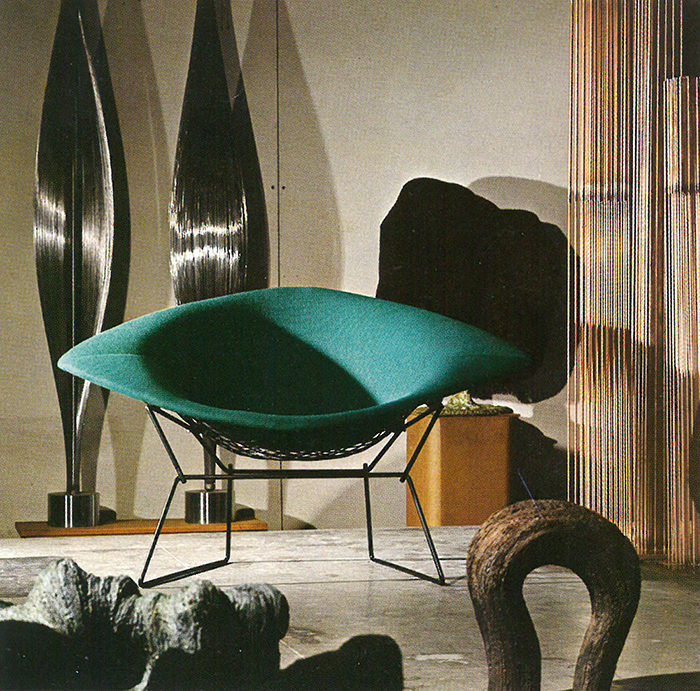 Harry Bertoia's Large Diamond Chair in Bally, Pennsylvania, 1973. | PC: Jon Naar | In Conversation with Jon Naar | Knoll Inspiration