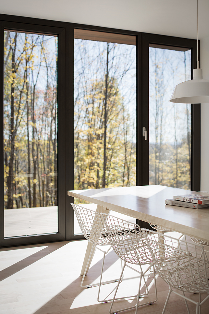 Bourgeois & Lechasseur Architects' cabin in the woods of North Hatley, Quebec, Canada | PC: Adrien Williams | Knoll Inspiration