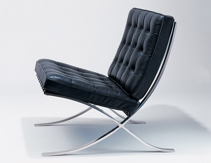 Design deconstructed the barcelona chair knoll inspiration - Silla mies van der rohe ...