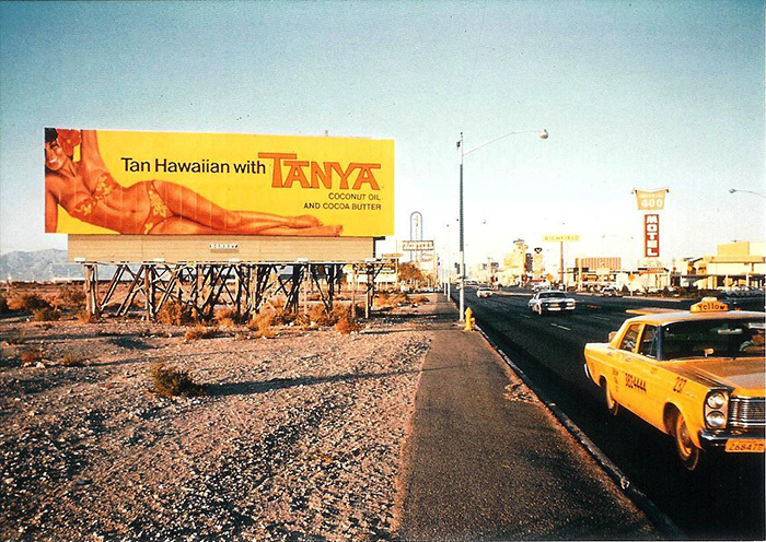 """Tanya"" billboard used as the cover image on both editions of Learning from Las Vegas 