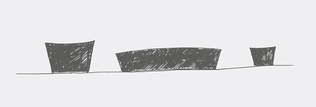 Sketches for Stone Collection by Maya Lin | Knoll Inspiration
