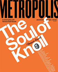George Lois' cover for a 2001 Florence Knoll interview in Metropolis Magazine | Knoll Inspiration