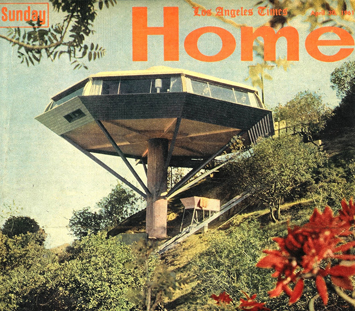 Berns Beach House, Malibu by Julius Shulman, 1954 in Sunset Magazine | Knoll Inspiration