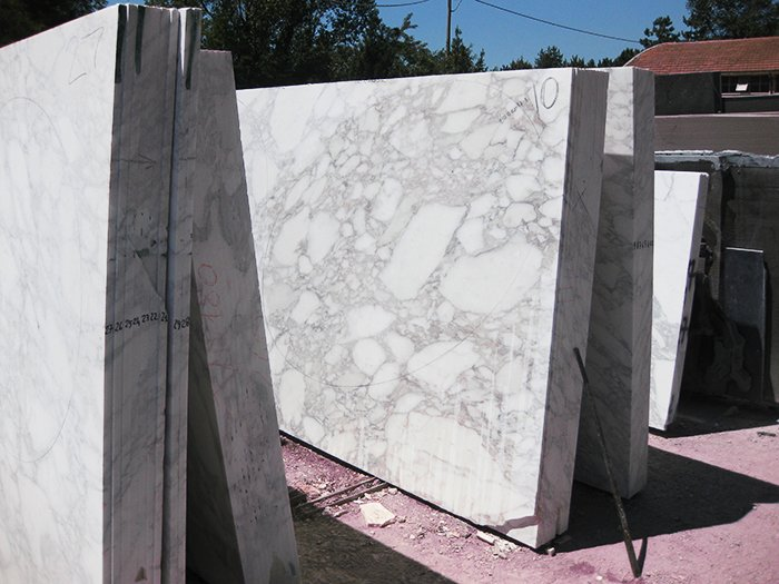 Marble slabs being acclimatized, prior to production | Knoll Inspiration