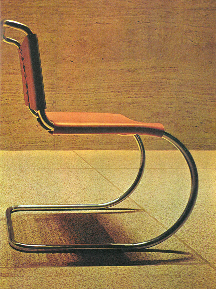 Ludwig Mies van der Rohe's MR Chair in the Seagrams Building, 1973. | PC: Jon Naar | In Conversation with Jon Naar | Knoll Inspiration