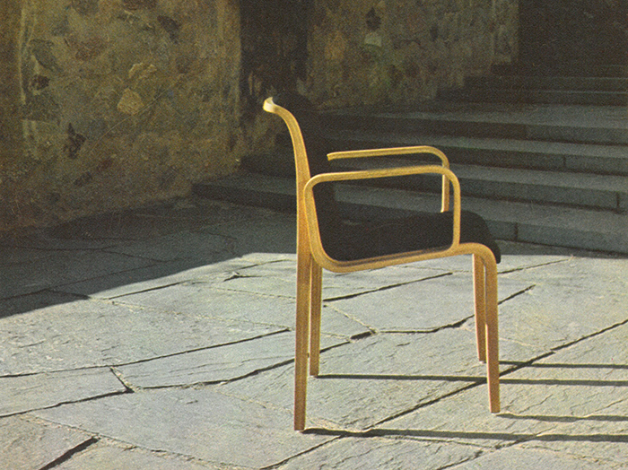 Stephens Chair at the Yale University campus in New Haven, Connecticut, 1973. | PC: Jon Naar | In Conversation with Jon Naar | Knoll Inspiration
