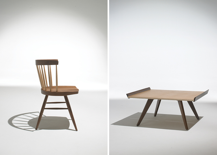 George Nakashima's Straight Chair and Splay-Leg Table | PC: Knoll | Knoll Inspiration