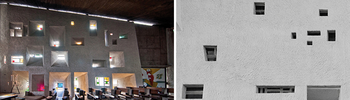 Windows of Colline Notre-Dame du Haut in Ronchamp, France | Knoll Inspiration