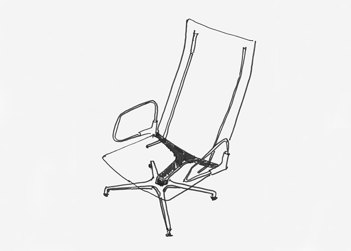 Sketch for Pilot by Knoll™ by Barber Osgerby, 2015 | Knoll Inspiration