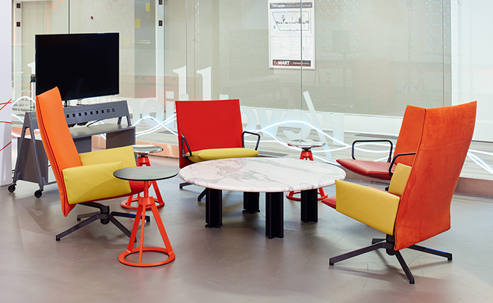 ... by Knoll? by Barber Osgerby at NeoCon, 2015. Photograph by Knoll