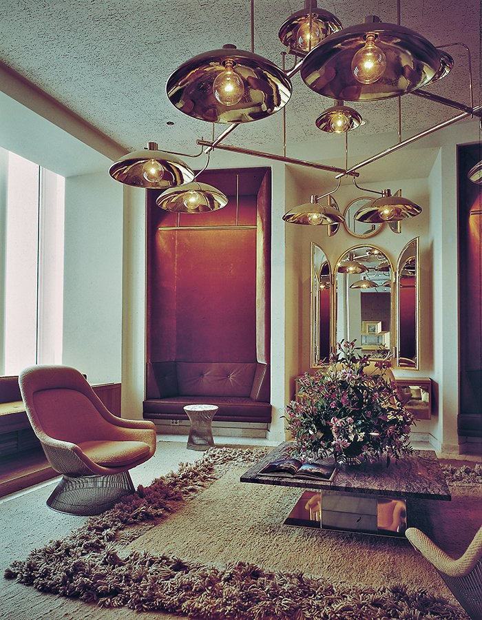 Windows of the World Reception Room designed by Warren Platner, 1976 | Knoll Inspiration