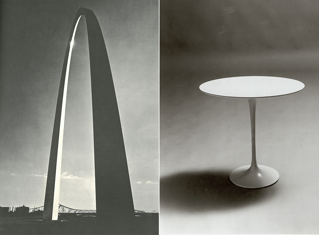Eero saarinen sculptor of form knoll inspiration for Table architecture