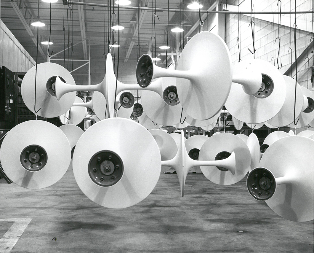 Pedestal bases awaiting marble tops for assembly, 1963 | Knoll Inspiration