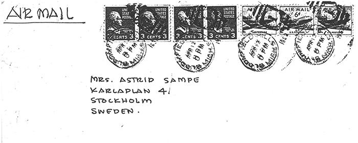 Eero Saarinen Letter to Astrid Sampe | Knoll Inspiration