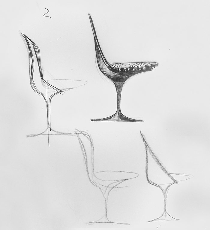Charmant Sketch For Tulip Chair By Eero Saarinen | PC: Knoll Archive | Knoll  Inspiration. U201c