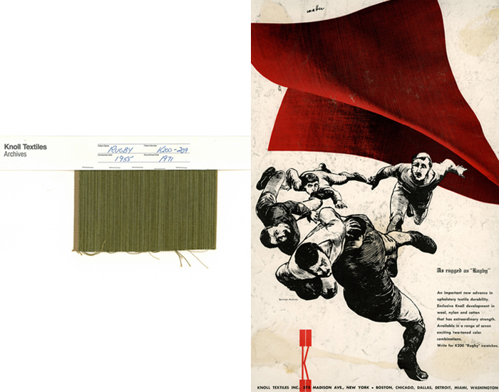 KnollTextiles Archival Collection | Rugby Upholstery, inspiration for Striae Stripe