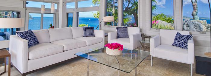 Ludwig Mies van der Rohe Barcelona Table & Warren Platner Side Table in Tortola