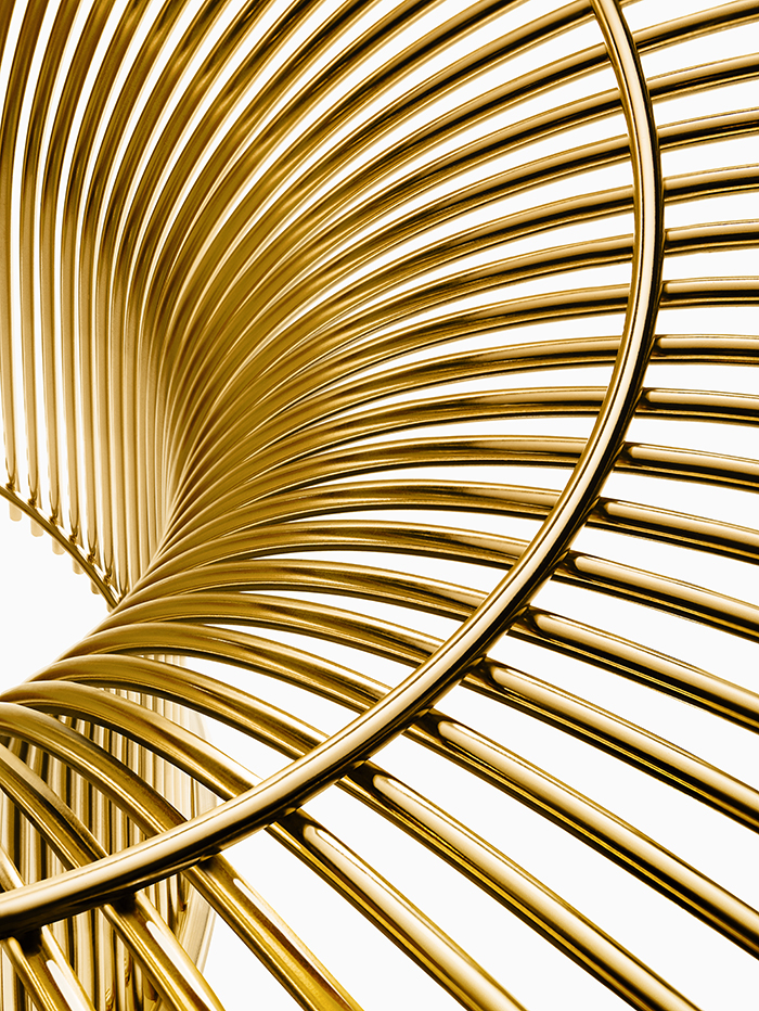The Warren Platner Collection in gold-plated steel | Knoll Inspiration
