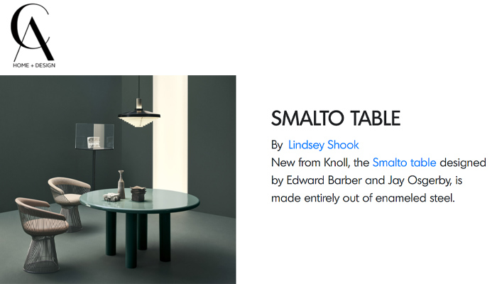 AD Pro and CA Home + Design Feature Smalto Table