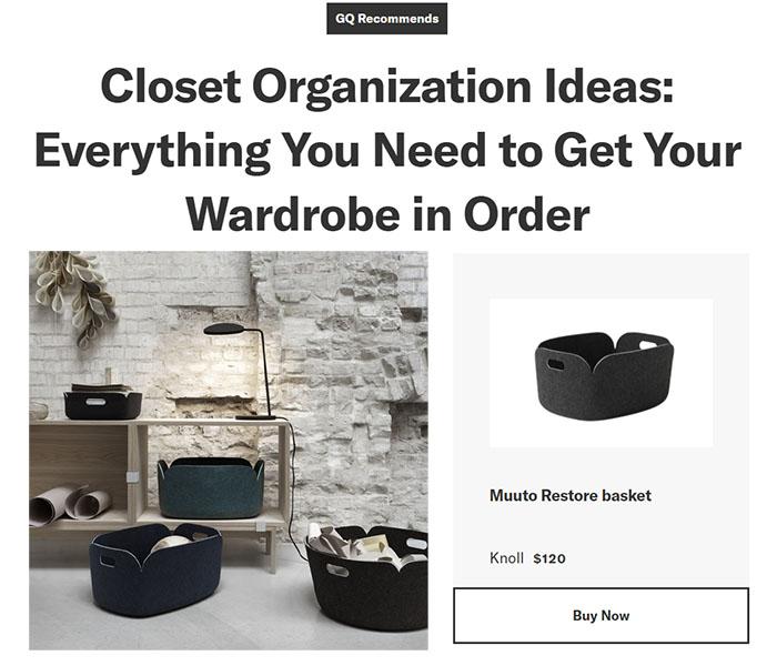 Muuto Restore Basket in GQ Magazine
