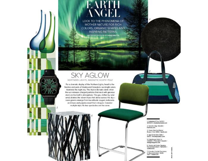 Luxe Interiors + Design Features Knoll Cesca Stool