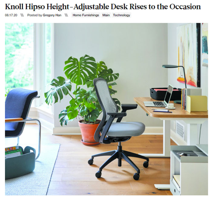 Design Milk Reviews Knoll + Muuto Hipso Height-Adjustable Desk