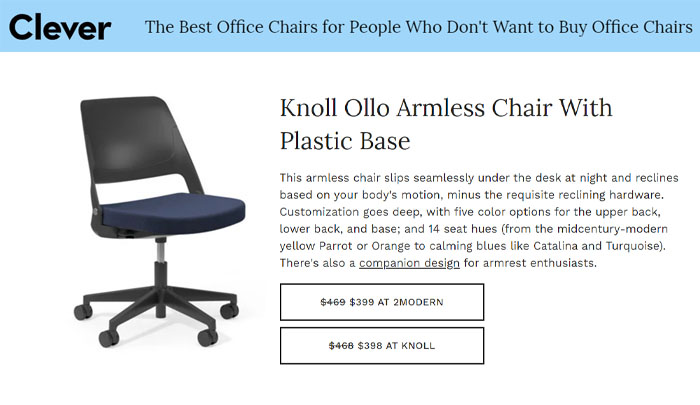 Ollo Clever Best Home Office Chairs Architectural Digest