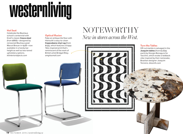 Knoll Features Cesca Stools Western Living