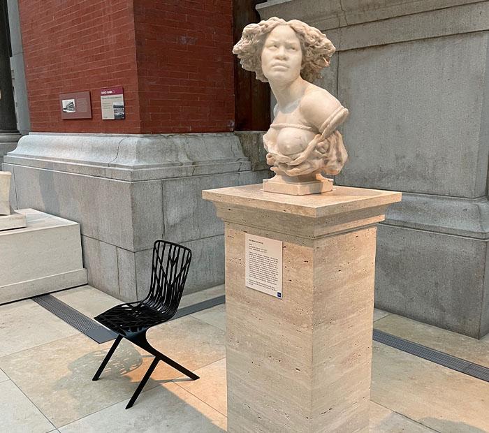 David Adjaye Washington Skeleton Chairs at the Metropolitan Museum of Art in New York City