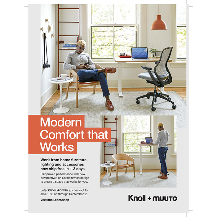 Knoll Print Advertisement in September issue of Fast Company