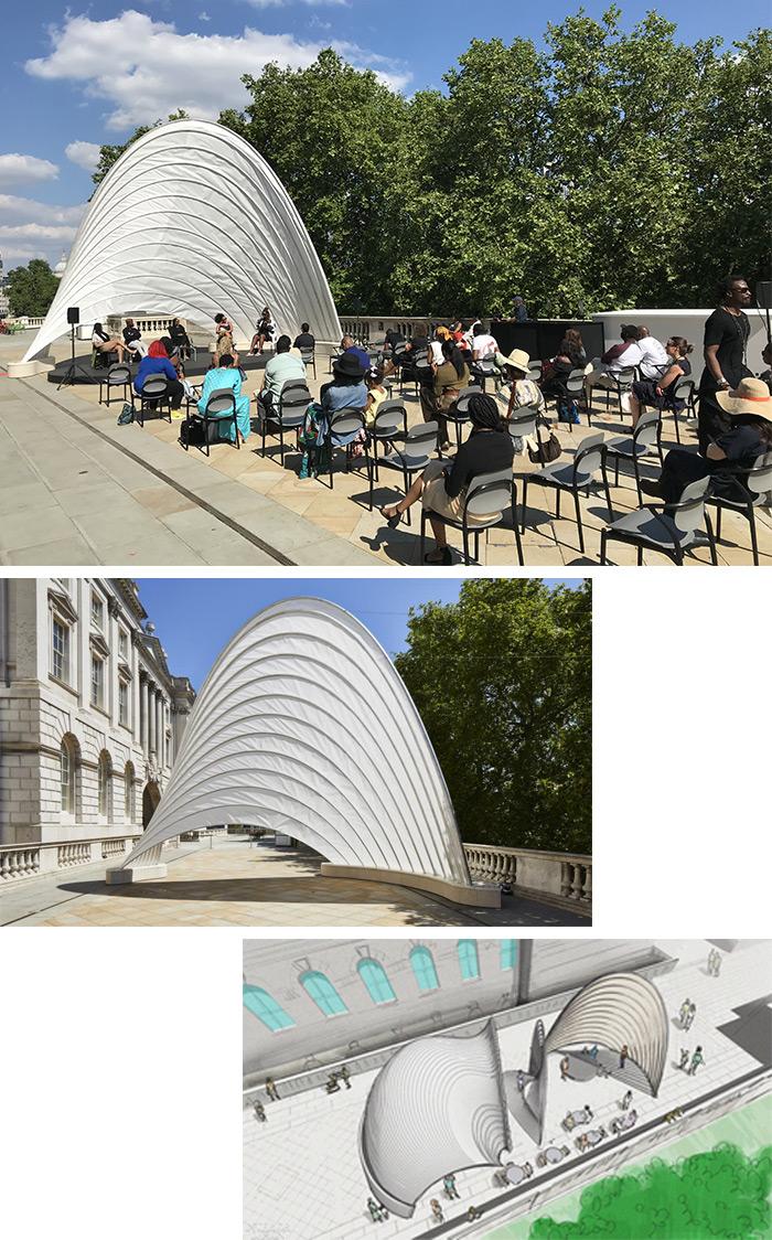 Knoll Sponsors Ini Archibong designed Pavilion of the African Diaspora at 2021 London Design Biennale