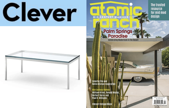 Florence Knoll Coffee Table Featured in Clever and Atomic Ranch