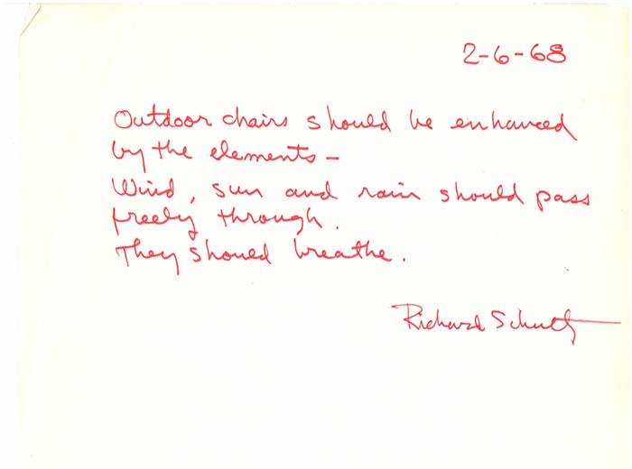 Remembering Richard Schultz - Outdoor Collection