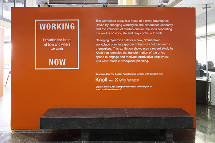 Working Now, a Knoll Exhibition at the Boston Architectural College
