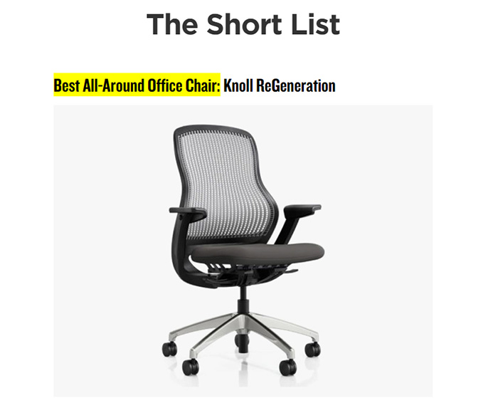 ReGeneration Chair Best of Office Chairs Gear Patrol