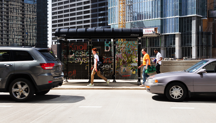 Knoll Design Days Bus Shelters Chicago