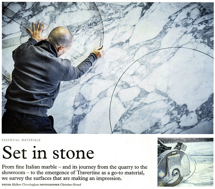 Monocle features Knoll marble