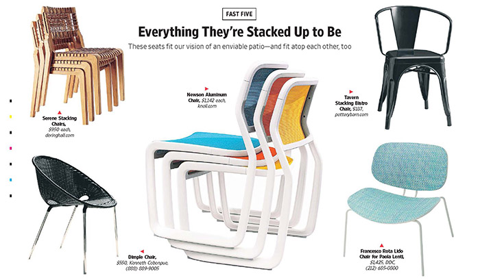 Knoll Wall Street Journal Newson Aluminum Chair Stacking Chairs