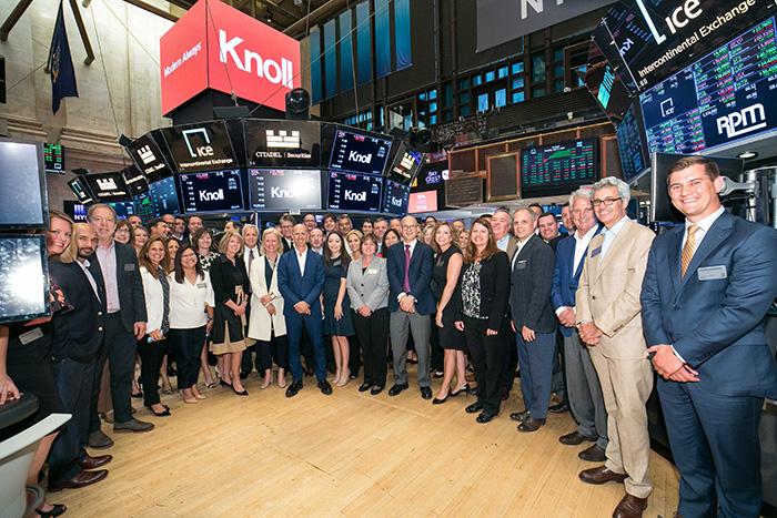 Knoll at the NYSE 2018