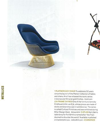 Platner Gold in Azure Magazine