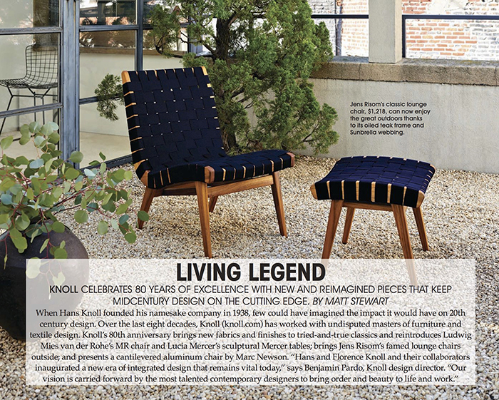 Knoll in LA Confidential September Issue 2018