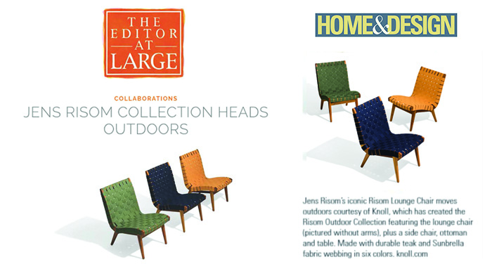 The Risom Outdoor Collection Spring 2018 Press Features