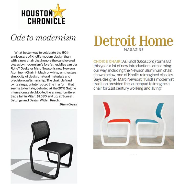 Knoll Marc Newson Newson Aluminum Chair Houston Chronicle Detroit Home