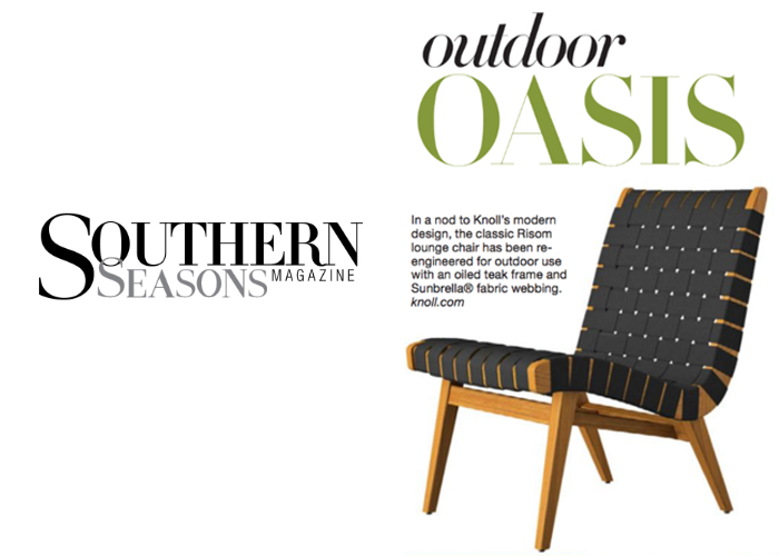 Knoll Risom Outdoor Collection Southern Seasons Sophisticated Living Summer 2018