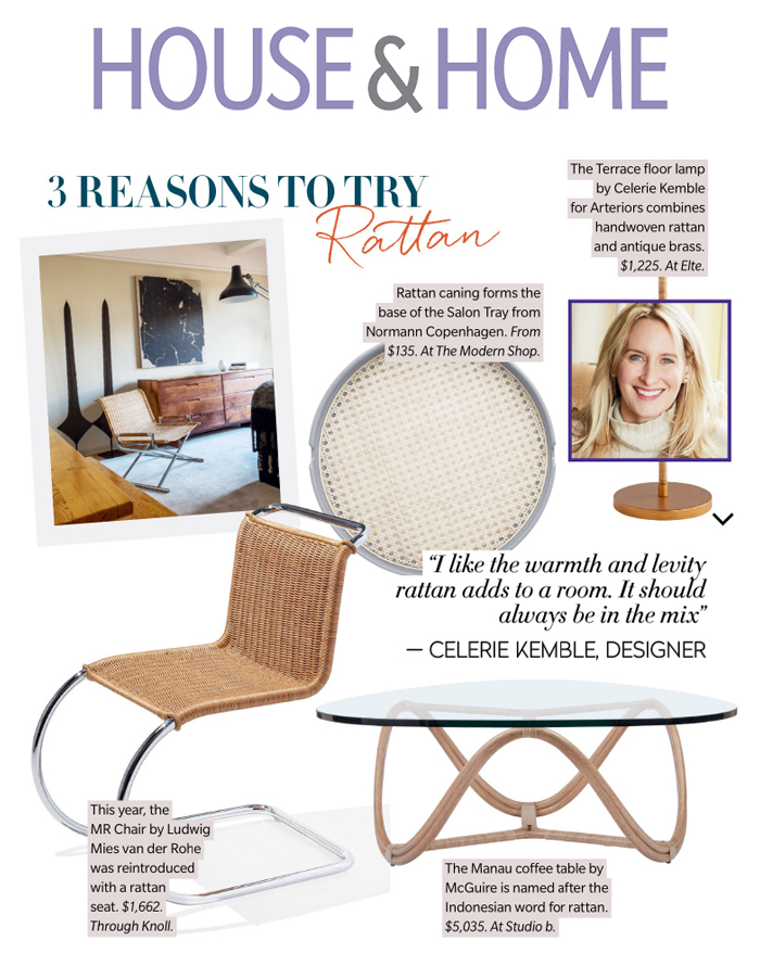 MR Chair in Rattan House & Home Summer 2018